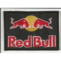 Parche bordado RED BULL NEGRO 10cm x 7cm