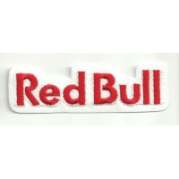 Patch embroidery RED BULL WHITE letras 10cm x 3cm