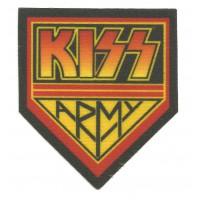 Parche textil KISS ARMY 8cm x 8,5cm