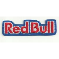 Parche bordado RED BULL AZUL letras 10cm x 3cm