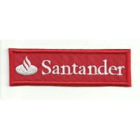 Patch embroidery BANCO SANTANDER RED 9cm x 3cm