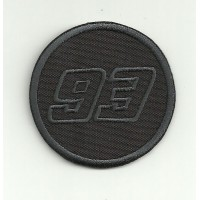 Patch embroidery 93 MARC MARQUEZ BLACK 5.5cm
