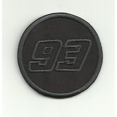 Patch embroidery 93 MARC MARQUEZ BLACK 5.5cm
