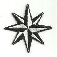 embroidery patch COMPASS ROSE 8cm x 8cm