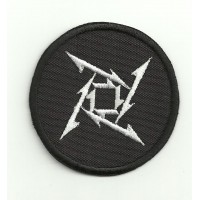 embroidery patch METALLICA LOGO BLACK AND WHITE 5.5cm