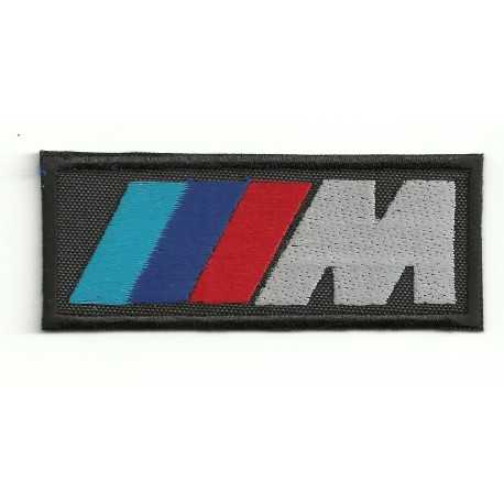 Parche bordado BMW M 8cm x 3cm