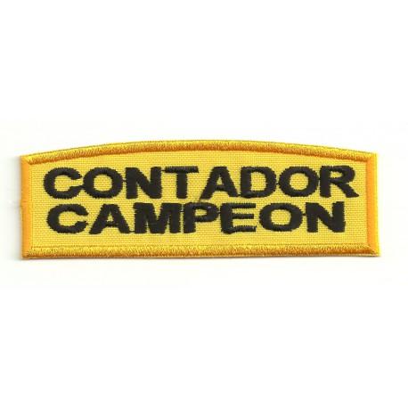 Patch embroydery CONTADOR CAMPEON 9cm x 3cm