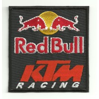 Parche bordado RED BULL KTM 8cm x 8,5cm