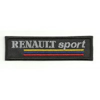 Patch embroidery RENAULT SPORT BLACK ANTIGUO 10cm x 3cm