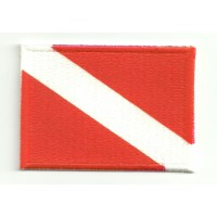 embroidery patch FLAG ALPHA 7cm x 5cm