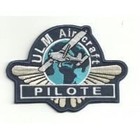 Parche bordado ULM AIR CRAFT PILOTE 11cm x 7,5cm