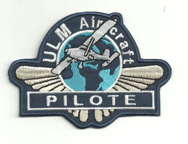 bordado parche 7 x 4 cm Pilot
