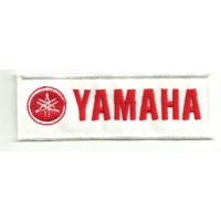Parche bordado YAMAHA ROJO 4cm x 1,4cm