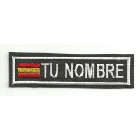 Embroidery Patch FLAG WITH YOUR NAME 15cm X 3.8 cm NAMETAPE