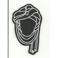 Patch embroidery VESPA BLACK 2,4cm x 4cm