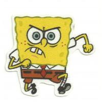 Textile patch SPONGE BOB ANGRY (enfadado) 7,5 cm x 7 cm