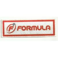 Parche textil FORMULA 10cm x 3cm