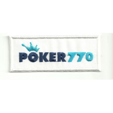 Parche bordado POKER770 8,5cm x 3,5cm