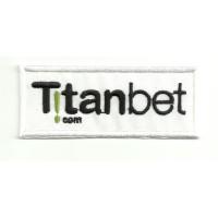Parche bordado TITANBET 8,5cm x 3,5cm