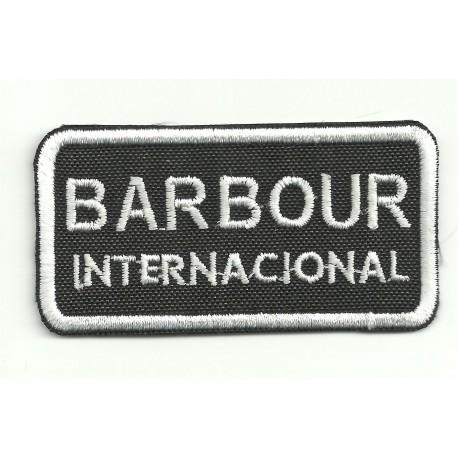 embroidery patch BARBOUR INTERNACIONAL 6,5cm x 3,5cm