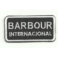 embroidery patch BARBOUR INTERNACIONAL 9,5cm x 5cm