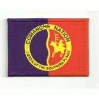 Parche bordado BANDERA COMANCHE NATION 7cm x 5cm