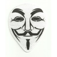 31 Textile patCH V FOR VENDETTA ANONYMUS 7cm x 9cm