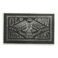 Parche textil OLD CROW CUSTOM WORKS 10cm x 6cm