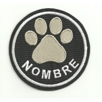 Embroidery Patch THE NAME OF YOUR PET 12cm diameter