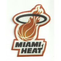 Textile patch MIAMI HEAT 7,5cm x 9cm