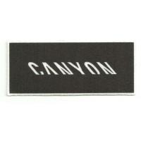 Textile patch CANYON BLACK 10,5CM X 4,5CM