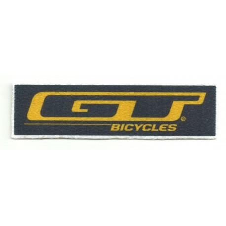 Parche textil GT BICYCLES AZUL 10,5CM X 3CM
