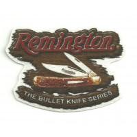 Textile patch REMINGTON MADERA 7,5cm x 5,5cm