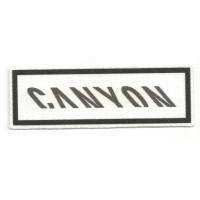 Parche textil CANYON BLANCO 9,5CM X 3CM