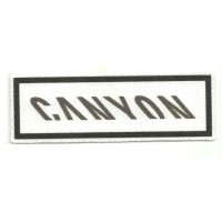 Textile patch CANYON WHITE 9,5CM X 3CM