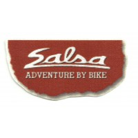 Textile patch SALSA ADVENTURE BY BIKE 10cm x 5cm