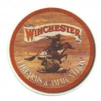 Parche textil WINCHESTER MADERA 7,5cm x 7,5cm