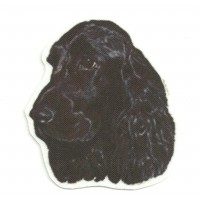 Textile Patch COKER SPANIEL INGLES BLACK 6,5cm x 8cm