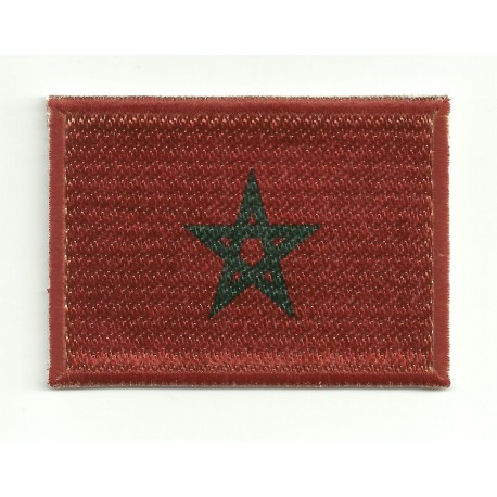 Patch embroidery and textile FLAG MOROCCO 7CM x 5CM