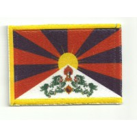 Patch embroidery and textile FLAG TIBET 7CM x 5CM