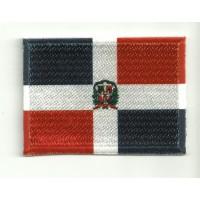 Parche bordado y textil BANDERA REPUBLICA DOMINICANA 7CM x 5CM