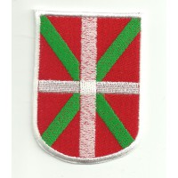 Patch embroidery SHIELD FLAG IKURRIÑA (Pais Vasco) 5.5 cm x 7.5 cm