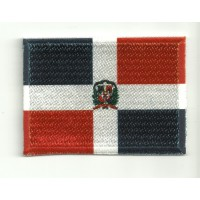 Patch embroidery and textile FLAG DOMINICAN REPUBLIC 4CM x 3CM