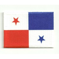 Patch embroidery and textile FLAG PANAMA 4CM x 3CM