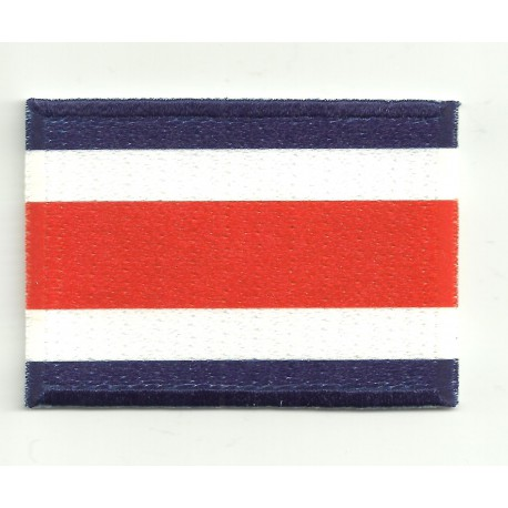 Patch embroidery and textile FLAG COSTA RICA 4CM x 3CM