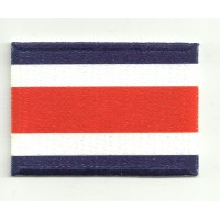 Patch embroidery and textile FLAG COSTA RICA 7CM x 5CM