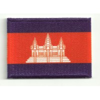 Patch embroidery and textile FLAG CAMBODIA 7CM x 5CM