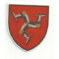 Patch textile SHIELD ISLE OF MAN 6CM X 7CM