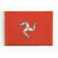 Patch embroidery and textile ISLE OF MAN 4CM X 3CM