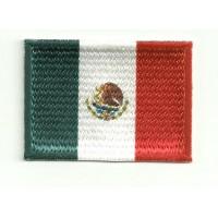 Parche bordado y textil BANDERA MEXICO 4CM x 3CM